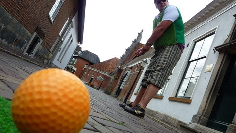 Urban street golf